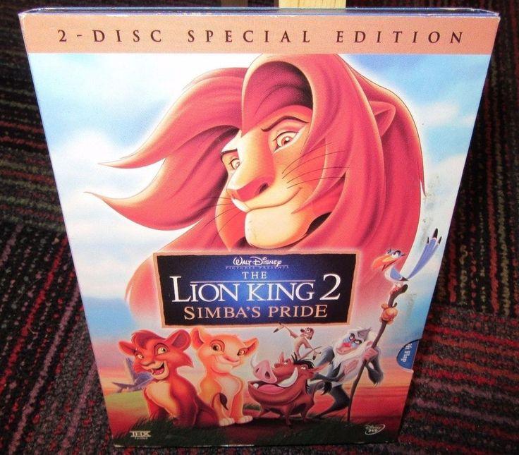 DISNEY THE LION KING 2: SIMBA'S PRIDE 2-DISC DVD SET, SPECIAL EDITION, EUC