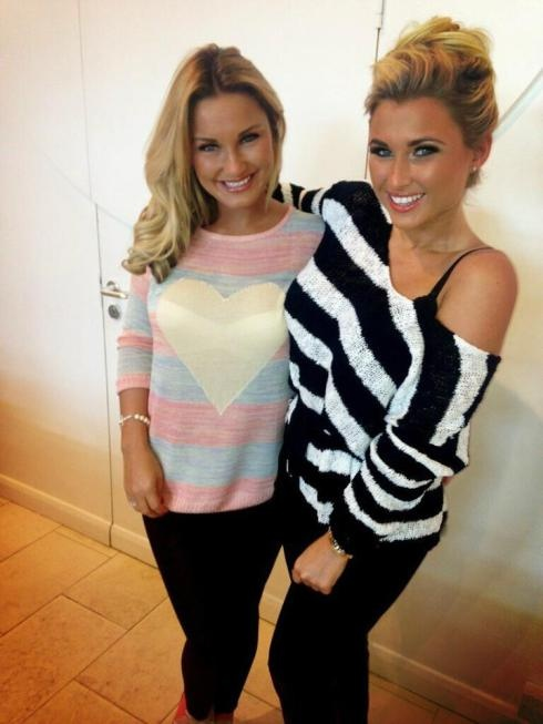 Sam Faiers wearing Sugarhill Boutique Sorbet Sweater