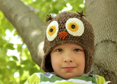 Free Crochet Pattern For An Owl Hat : The 162 best images about crochet only free, hats on ...