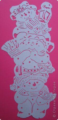 Картина панно рисунок Новый год Вырезание Не идёт ли Дед Мороз? Бумага фото 4