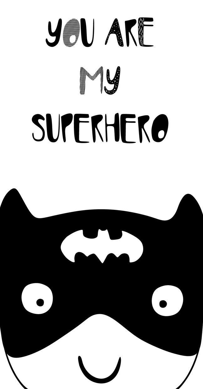 Superhero Nursery Art Printable