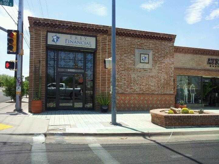 Az adobe brick facade