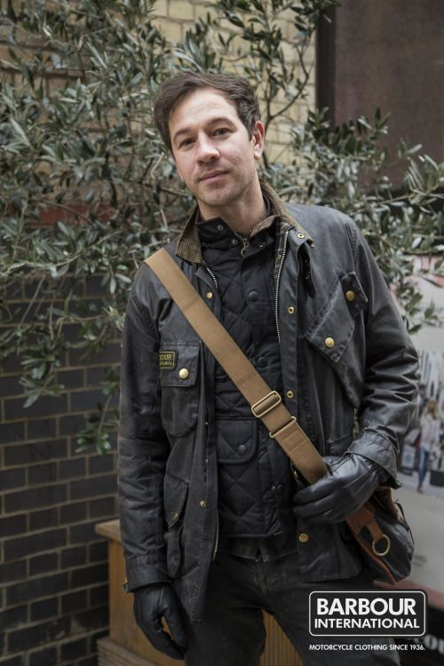 'We met Andrew as he was about to pay a visit to our Covent Garden store. \u00a0We absolutely loved his unique biker style! Andrew is wearing a vintage style Barbour International Original jacket with a quilted gilet for extra warmth. \u00a0Andrew even has a vintage Barbour tarras bag to complete the outfit. \u00a0A true Barbour fan!\u00a0'