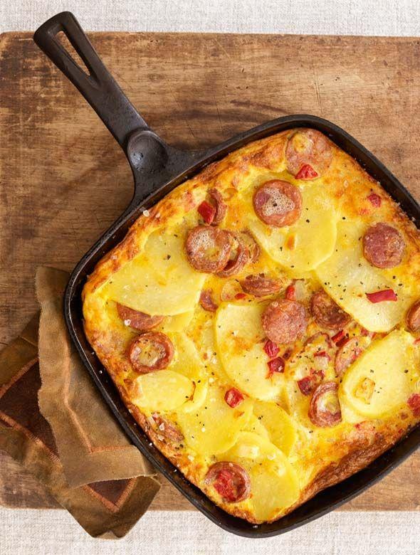 Portuguese Sausage Frittata Recipe