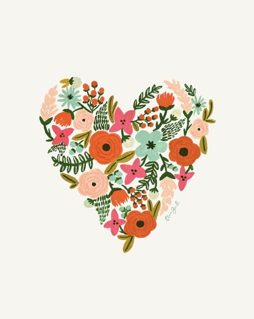Heart print by Rifle Paper Co 0