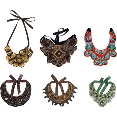 Lidia Bedman: Collares babero & cuellos joya