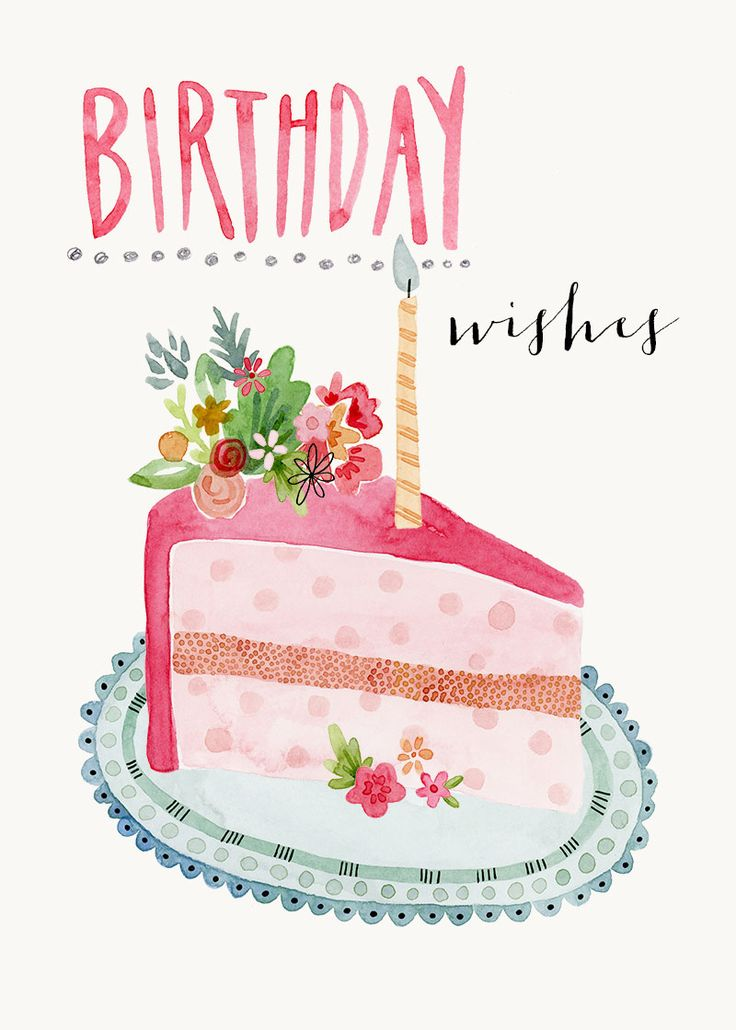 Greeting Cards - Birthday Cards - Felicity French Illustration Geburtstagskarte E-Karte Whatsapp Facebook Gruß Geburtstag Kuchen Happy Birthday