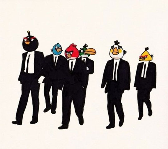 angry reservoir birds Wall Art, Reservoir Birds, Lee Crutchley, Angry Dogs, Angry Men, Funny, The Offices, Angry Birds, Angrybirds