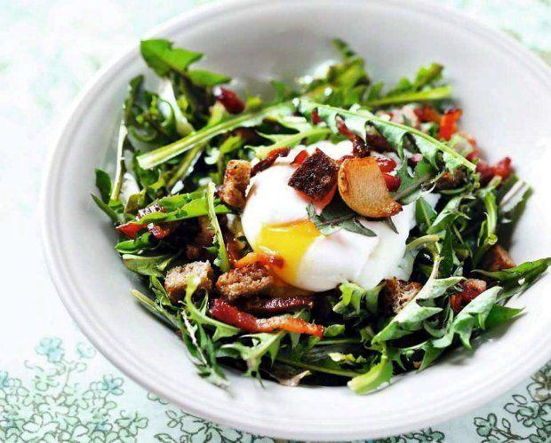 Dandelion Salad /La salade du groin d'âne/Lyońska sałatka z mniszkiem