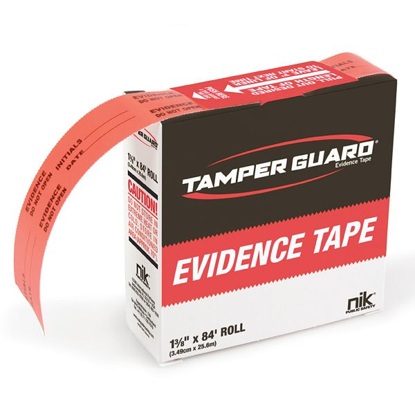 Virtually impossible to violate, Tamper Guard Evidence Tape outperforms all evidence tapes and is ideal for anchoring and sealing today's exotic plastics and other finishes. Each roll is printed in safety orange using a special dye that will bleed and smear if it comes into contact with most solvents, and is printed on a thin acrylic stock that tears easily. A superior adhesive and minute saw-tooth edges along both sides of the tape leave signs of tampering. Easy to write on, this tape is…
