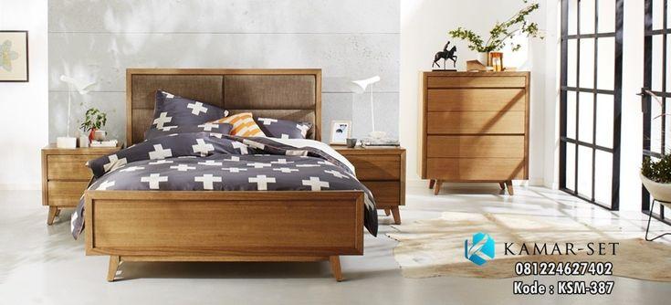 Jual Set Tempat Tidur Minimalis Gaya Retro Harga Murah Bahan Kayu Jati / Mahoni Untuk anak remaja dan dewasa model terbaru by furniture jepara