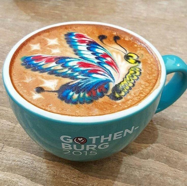 Via @thecoffeelifestyle 🦋 #worldsuniquedesigns #loveit #butterfly #coffee #butterflyeffect #coffeelove #coffeeart #coffeetime #todayscoffeechoice #coffeecup #coffeelife #coffeedesign #barista #baristalife #likepost #likelikelike