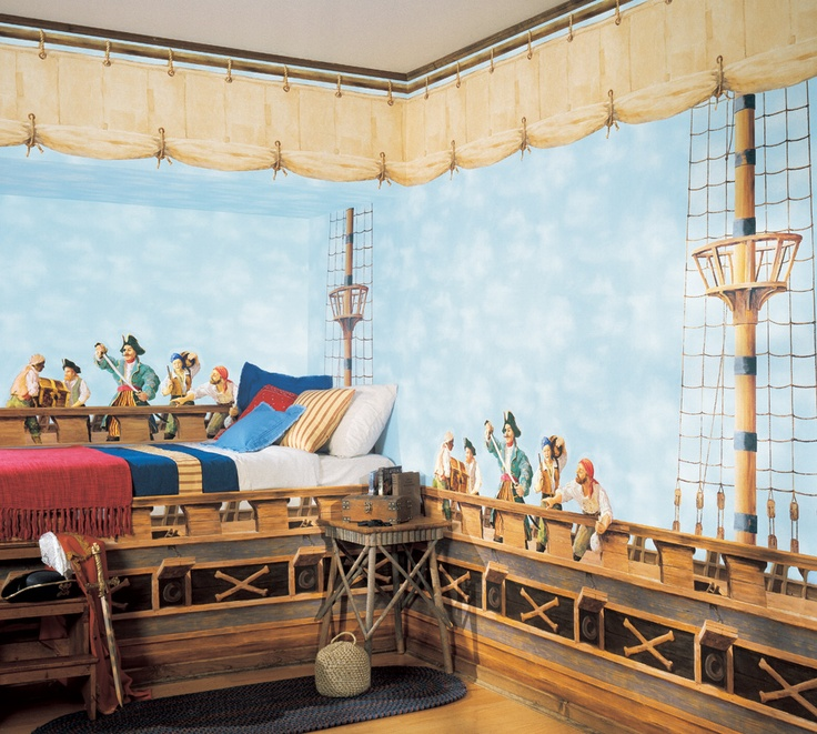 Kids pirate room cool rooms pinterest kid kids for Kids pirate room