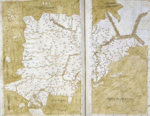 Representación de España, de acuerdo con Ptolomeo