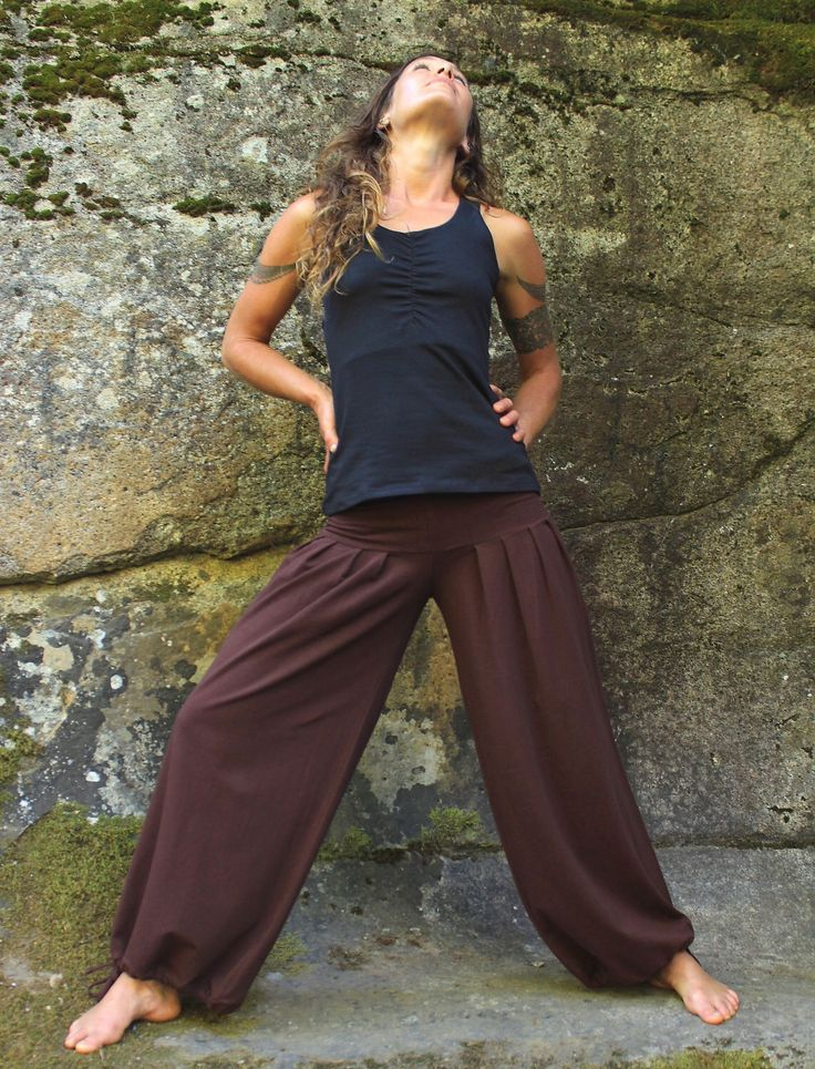 Harem Pants-womens clothing-Women Harem Pant-Brown-dancewear-bellydance pant-loose fitting pants-baggy pants-festival bottoms-baggy trousers by aurorawear1 on Etsy https://www.etsy.com/listing/192603331/harem-pants-womens-clothing-women-harem