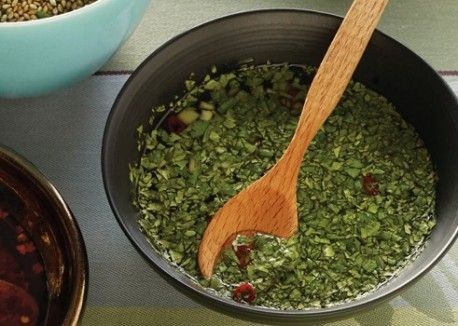 Cooling Cilantro-Cucumber Dipping Sauce | Vegetarian Times