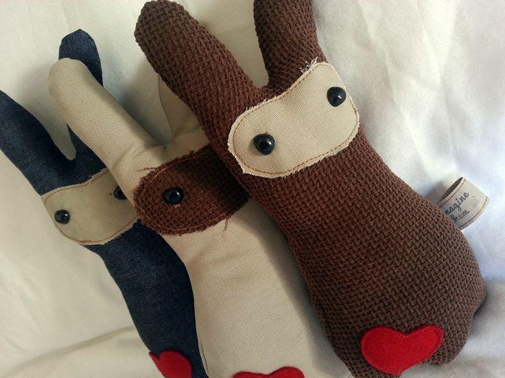 Handmade Industrial Bunny Collection https://www.facebook.com/imaginethemtoyshop