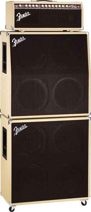 FenderSuper-Sonic 100 100W Tube Guitar Amp HeadBlonde Stack, Right-Facing