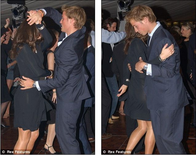 Will and Kate dancing.