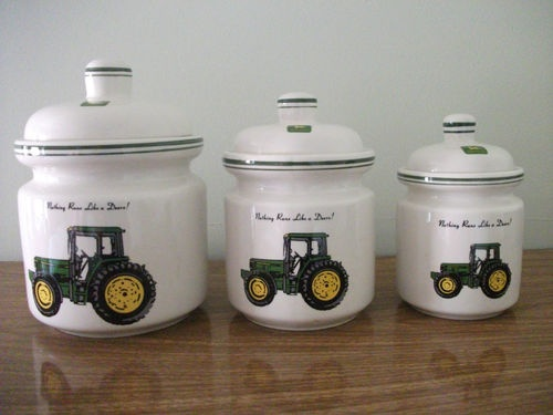 John Deere Crock : Could put decals on my white canisters the new kitchen