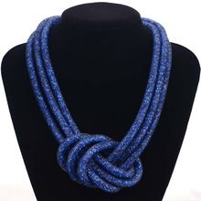Mais recente moda handmade stardust colares com minúsculo resina cristal colar para mulheres presentes big nó stardust colares N1428(China (Mainland))