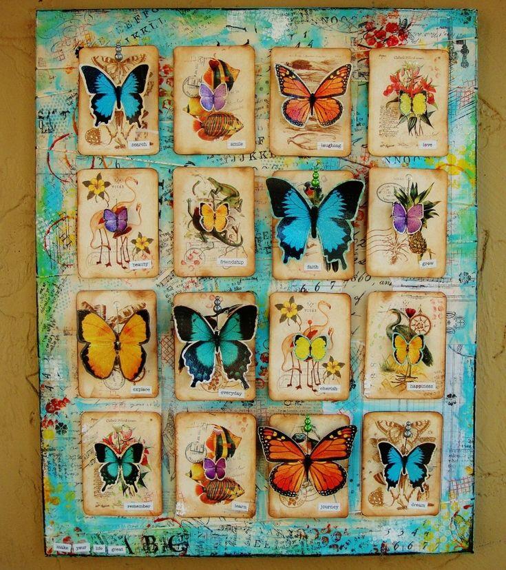 Butterflies - Scraps of Darkness Victoriana (Feb) & Escape (Jan)  Kits