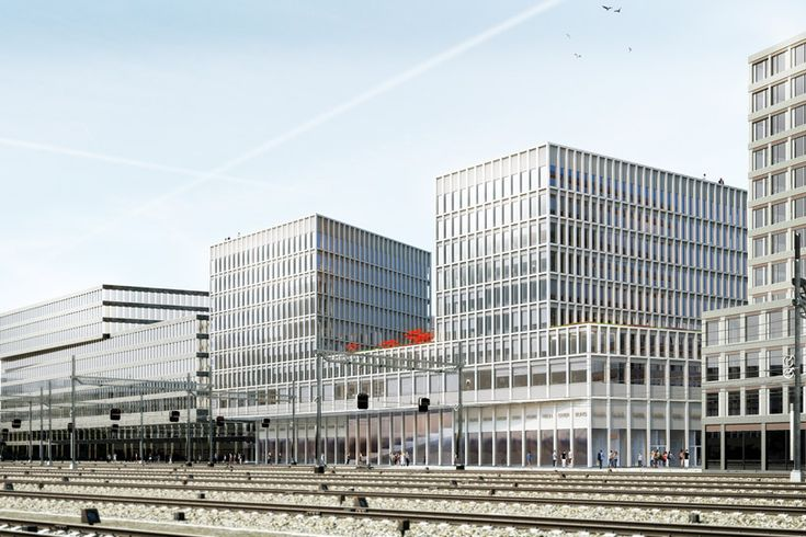 WAA wins competition to design europaallee site D in zurich - designboom