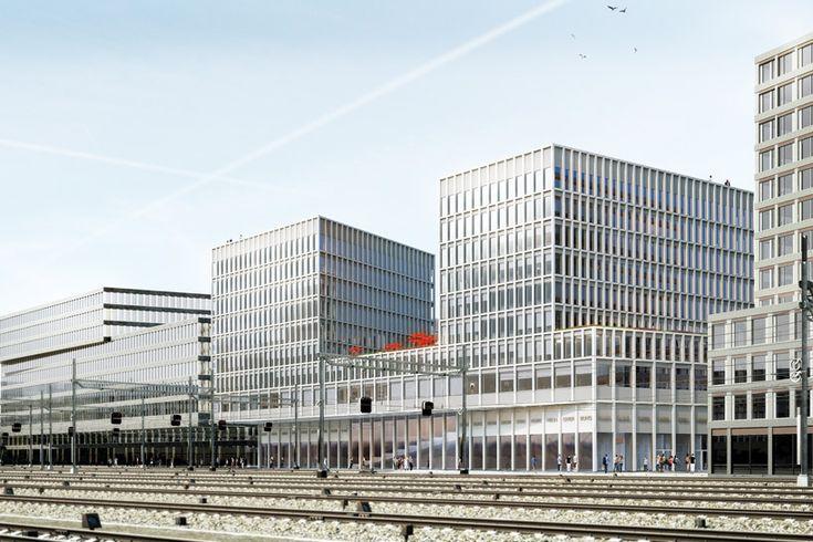 WAA wins competition to design europaallee site D in zurich - designboom