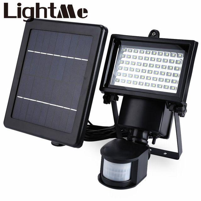 Nueva Llegada Natural SL-60 LED de Luz Blanca Al Aire Libre super brillante impermeable de la energía solar pir motion detector puerta de pared lámpara