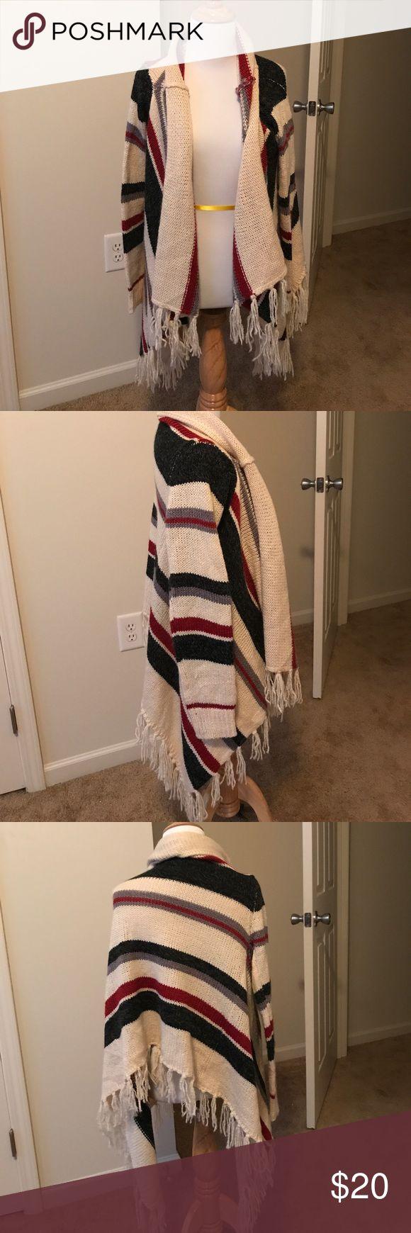 Forever 21 fringed boho sweater Brand is Forever 21. Size medium. Fringed boho style sweater. Forever 21 Sweaters Cardigans