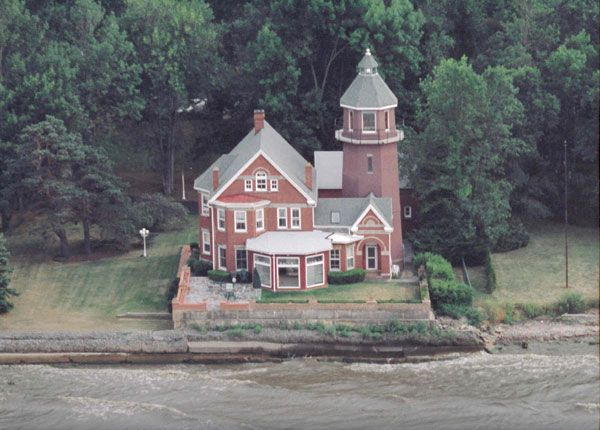 Braddock Point Lighthouse on Lake Ontario, fifteen miles west of Rochester, NY.  The electrican that did our electrical work in our home lives here...