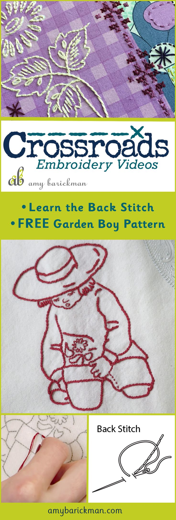 Author Amy Barickman Gives A Video Tutorial On How To Do The Backstitch,  And Includes