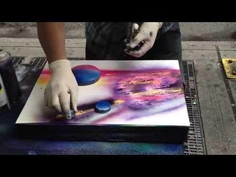 Италия. Рим. Рисунок баллончиками с красками. - YouTube