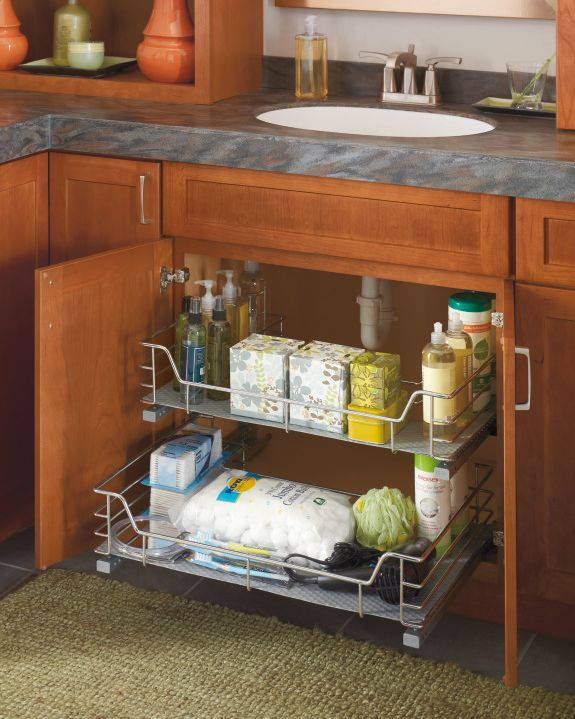 Thanks To Diamond Tidy Your Bathroom Counters By Organizing Toiletries Under The Sink And