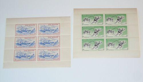 Stamp Pickers New Zealand 1957 Semi-Postal S/S Scott #B52a-B53a MNH $15