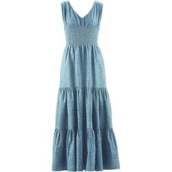 Długa sukienka dżinsowa