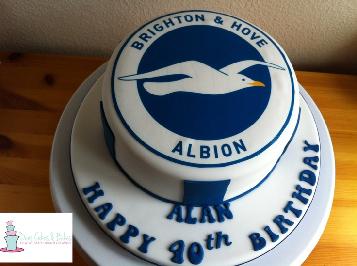 Brighton & Hove Albion FC birthday cake