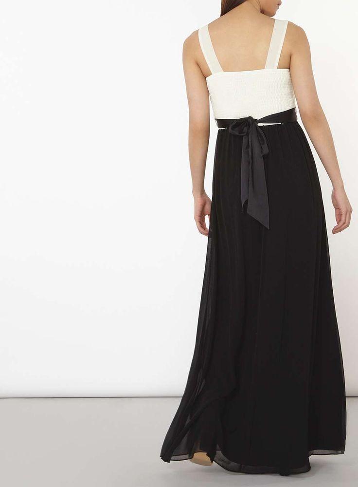 Womens **Showcase Black and White 'Natalie' Maxi Dress- Black