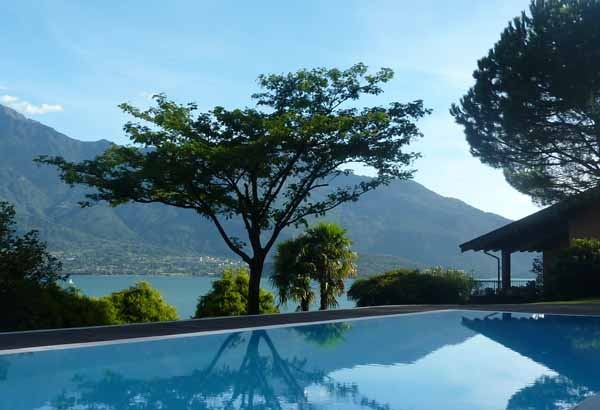 Family villa with beautiful private pool overlooking the lake.  www.vacanzelago.com