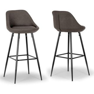 Shop for Set of 2 Aldis Brown Faux Leather Barstool with Black Metal Legs and Decorative Zipper. Get free shipping at Overstock.com - Your Online Furniture Outlet Store! Get 5% in rewards with Club O!