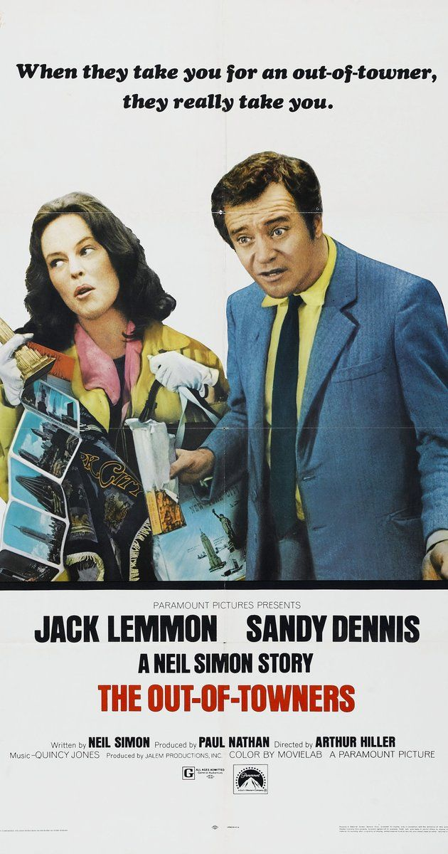 Directed by Arthur Hiller.  With Jack Lemmon, Sandy Dennis, Sandy Baron, Anne Meara. An Ohio sales executive accepts a higher position within the company and travels to New York City with his wife for his job interview but things go wrong from the start.