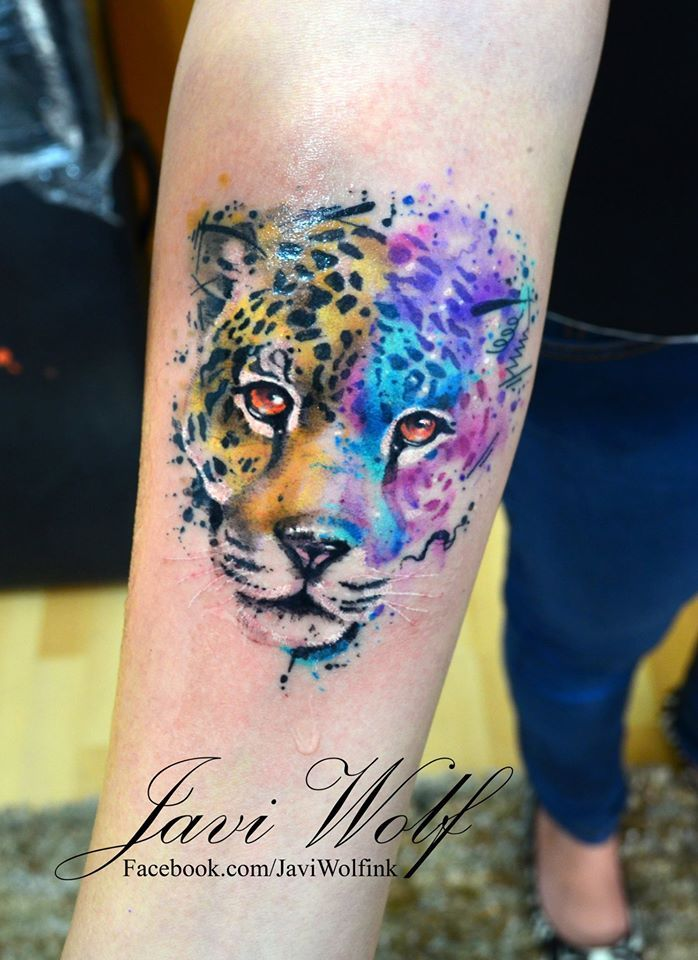 Jaguar Tattooed by Javi Wolf
