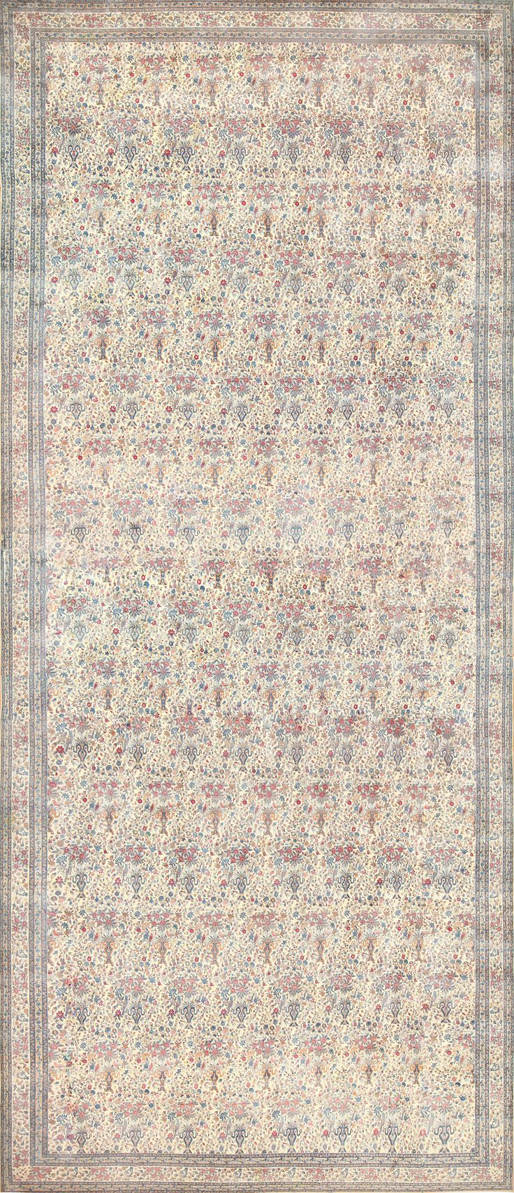 Palace size antique persian kerman rug 48370