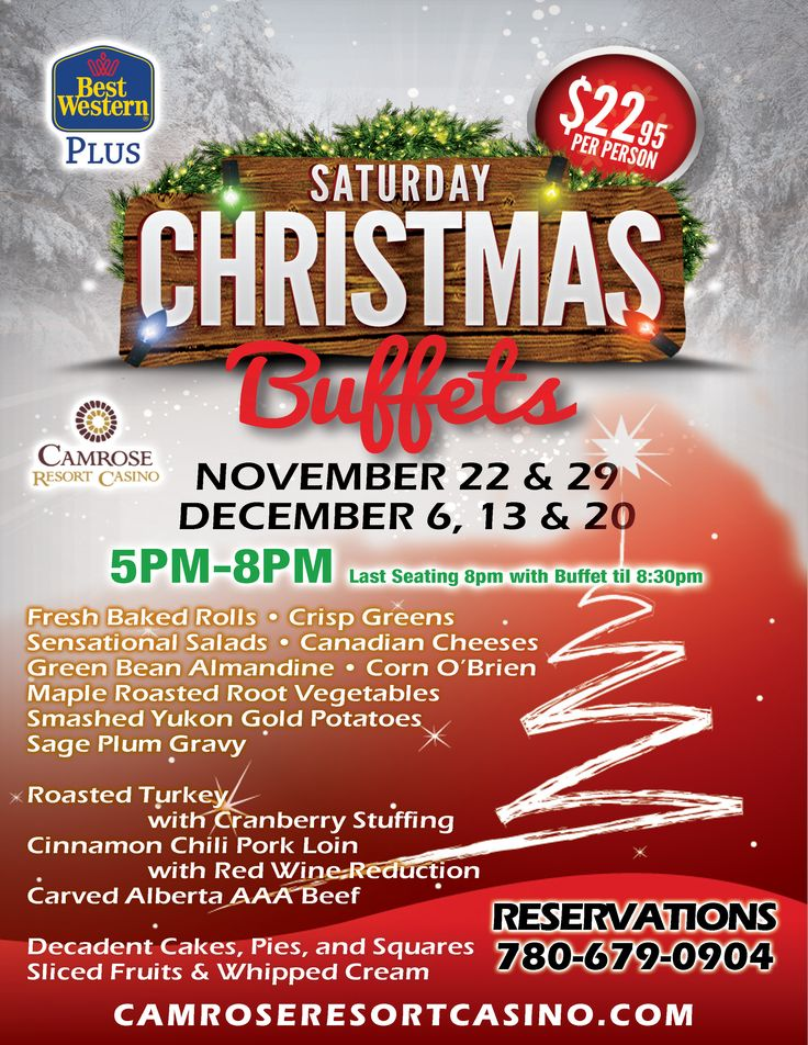 Start planning for Christmas - we are with our lineup of Christmas buffets.