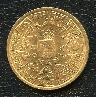 ROMANIA 20 LEI GOLD COIN