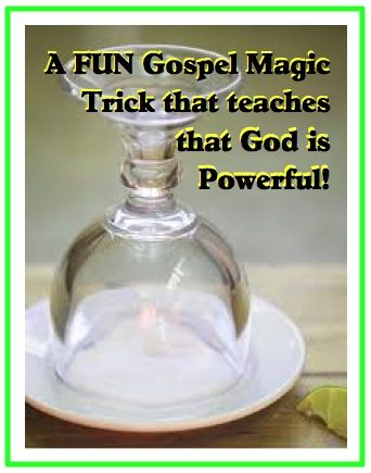 """This Gospel magic trick comes from one of Steve Spangler's experiments called """"Stuck Like Glue."""" I came up with my own script to share a Gospel message which talks about how when we do good works for God, He will show Himself powerful in our lives. http://scripturelady.com/gospel-magic-trick-god-is-powerful/"""
