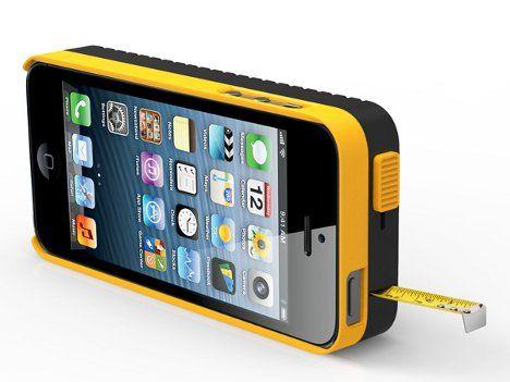 DeWalt iPhone case with measuring tape