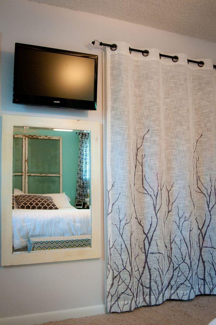 Curtains for closet doors - Closet Curtains We Removed The Closet Doors And Removed The Wall To The Door For