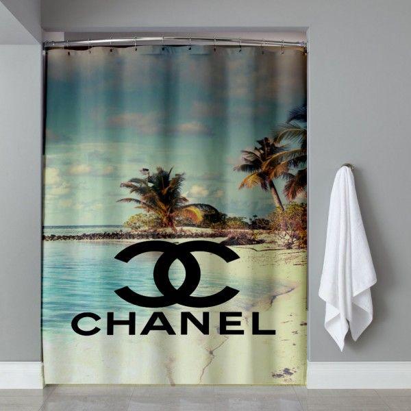 Chanel Vintage Beach Shower Curtain