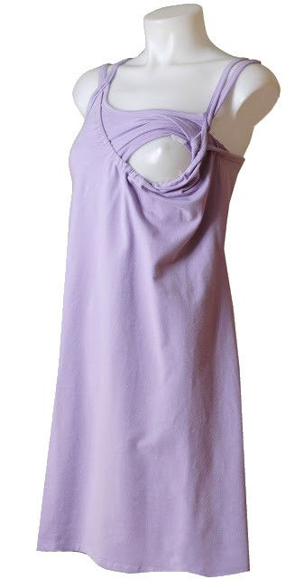 Nursing Nightgown with a built-in shelf bra! Perfect for holding your nursing pads in place! $58.95 www.milkandbaby.com #breastfeeding